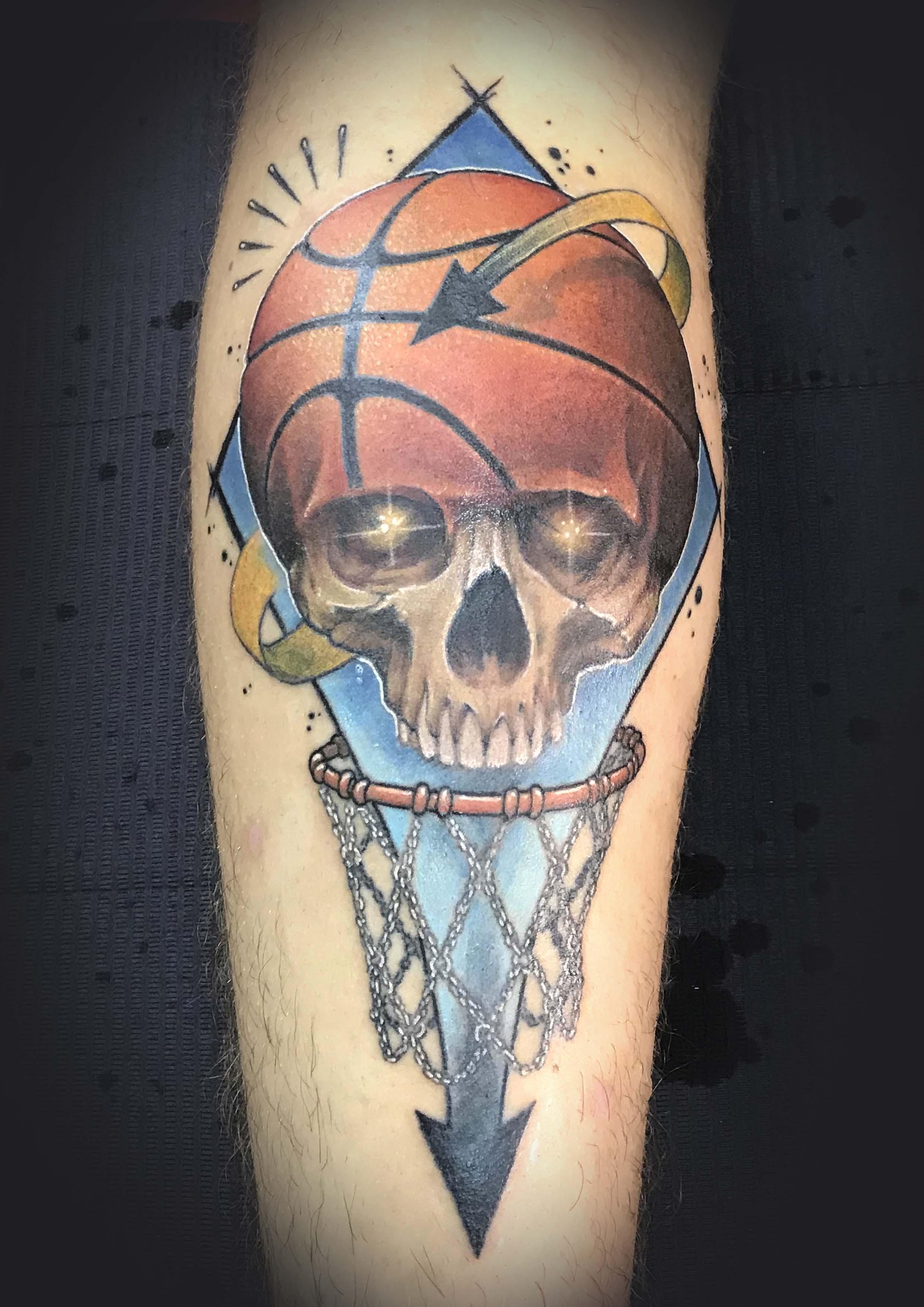 Basketball Skull Tattoo
