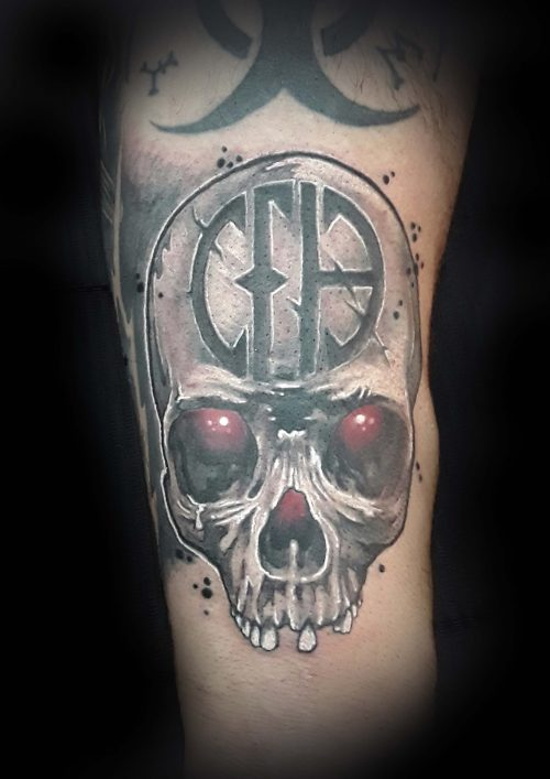 Pantera Tribute Skull Tattoo